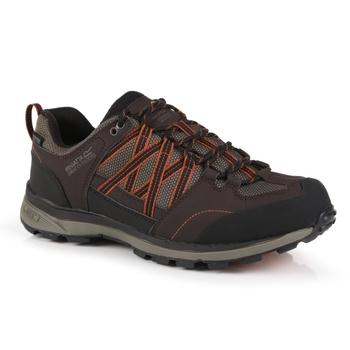 Men's Samaris II Waterproof Low Walking Shoes  Peat Burnt Umber