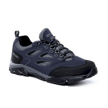 Men's Holcombe IEP Low Waterproof Walking Shoes Navy Granite