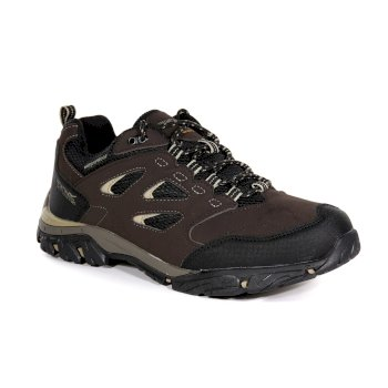 Men's Holcombe IEP Low Waterproof Walking Shoes Peat Gold Fawn