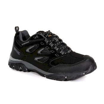 Men's Holcombe IEP Waterproof Walking Shoes Black Granite