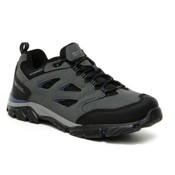 Men's Holcombe Waterproof Low Walking Shoes Granite Dark Denim