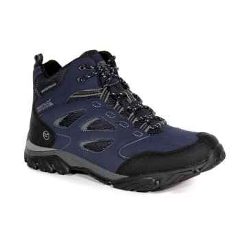 Men's Holcombe IEP Mid Waterproof Walking Boots Navy Granite