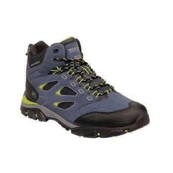 Men's Holcombe IEP Mid Boots Dark Denim Lime Green
