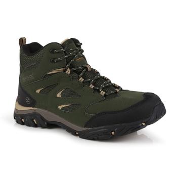 Men's Holcombe Waterproof Mid Walking Boots Bayleaf Oat