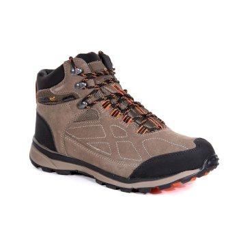 Men's Samaris Suede Walking Boots Walnut Blaze Orange