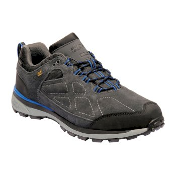 Men's Samaris Suede Low Walking Shoes Briar Oxford Blue