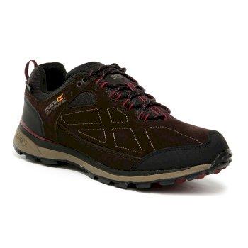Men's Samaris Suede Low Walking Shoes Peat Delhi Red