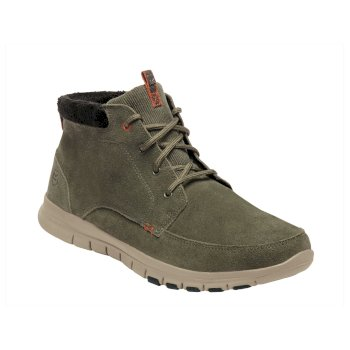 Men's Marine Mid Thermo Boots Dark Khaki Orange Umber