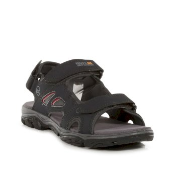 Men's Holcombe Vent Sandals Ash Grey Rio Red