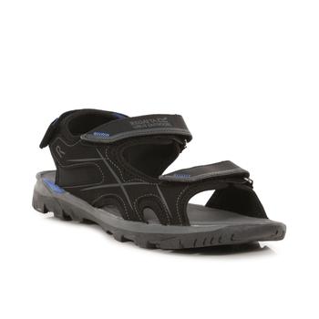 Men's Kota Drift Sandals Black Nautical Blue