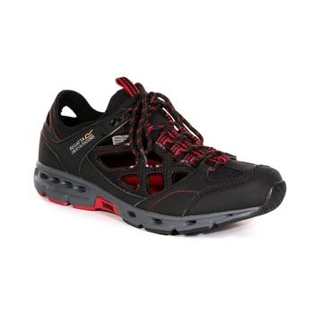 Men's Samaris Crosstrek Sandals Black Classic Red
