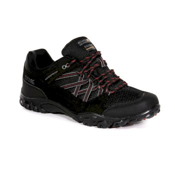 Men's Edgepoint III Waterproof Walking Shoes Black Classic Red