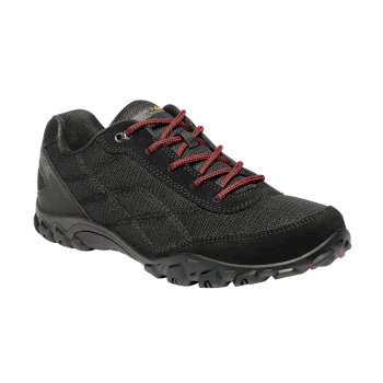 Men's Stonegate II Walking Shoes Black Classic Red