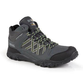 Men's Edgepoint Mid Waterproof Walking Boots Briar Lime Punch