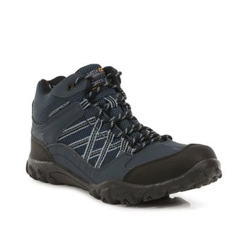 Men's Edgepoint Waterproof Mid Walking Boots Brunswick Blue Black