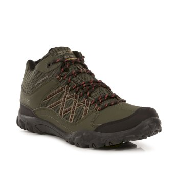 Men's Edgepoint Mid Waterproof Walking Boots Bayleaf Burnt Umber