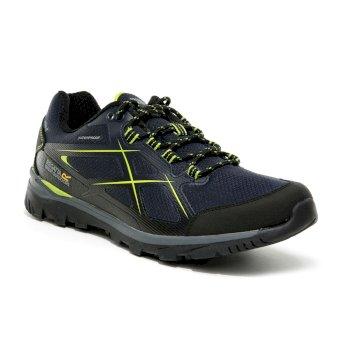 Men's Kota II Low Waterproof Walking Shoes Navy Lime Green