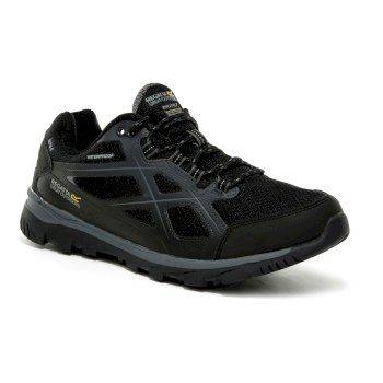 Men's Kota II Waterproof Walking Shoes Black Granite