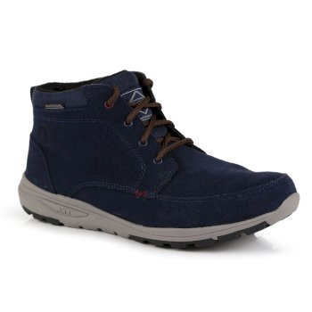 Men's Marine Suede Thermo Insulated Boots Navy Burgundy