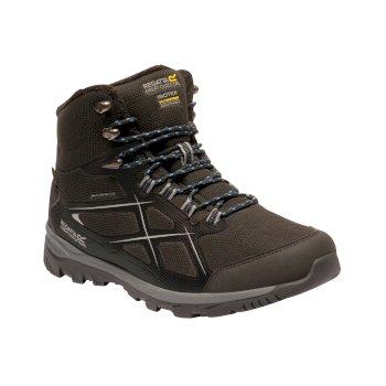 Men's Kota II Thermo Waterproof Mid Walking Boots Black Oxford Blue