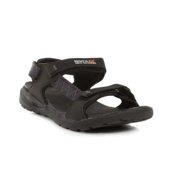 Men's Marine Web Walking Sandals Black