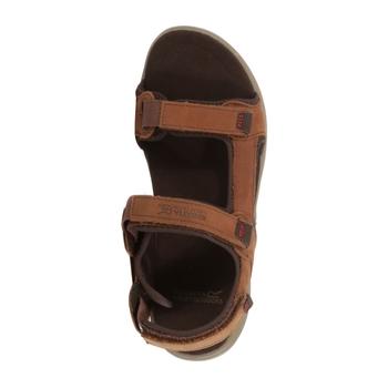 Men's Marine Leather Walking Sandals Mustang