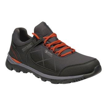 Men's Highton Stretch Walking Shoes Briar Grey Burnt Salmon