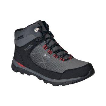 Men's Highton Stretch Waterproof Walking Boots Briar True Red