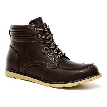 Men's Robinson PU Casual Boots Chestnut
