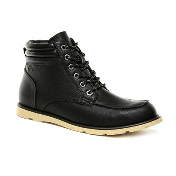 Men's Robinson PU Casual Boots Black