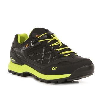Men's Samaris Pro Waterproof Low Walking Shoes Black Lime Punch