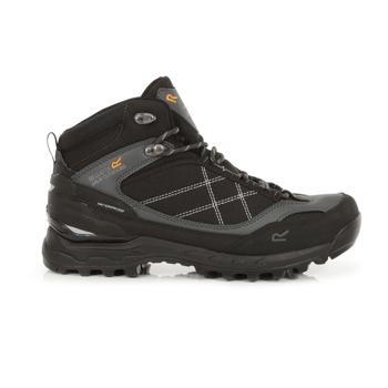 Men's Samaris Pro Waterproof Mid Walking Boots Black Briar
