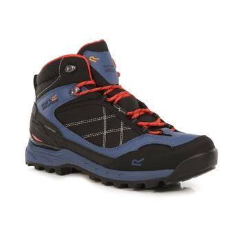 Men's Samaris Pro Waterproof Mid Walking Boots Dark Denim Cajun Orange