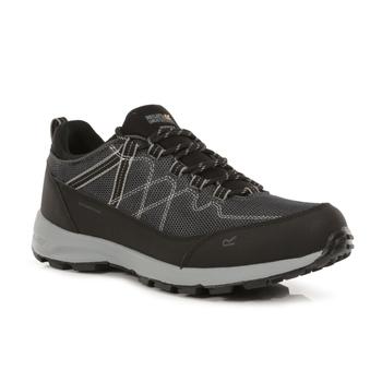 Men's Samaris Lite Waterproof Low Walking Shoes Black Dark Steel