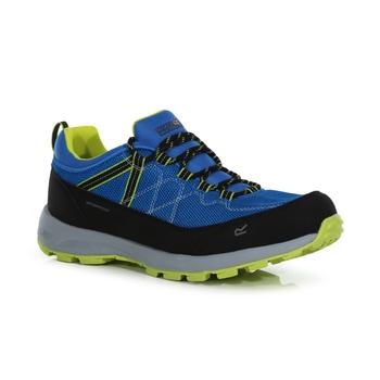 Men's Samaris Lite Waterproof Low Walking Shoes Hawaiian Blue Electric Lime