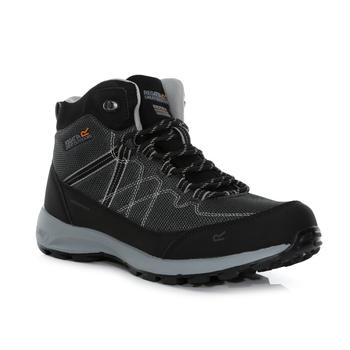 Men's Samaris Lite Waterproof Mid Walking Boots Black Dark Steel