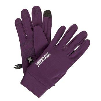 Męskie rękawice softshell Touchtip Jagodowe