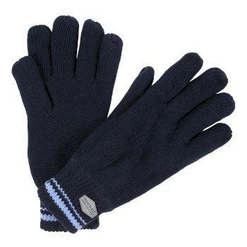 Balton Cotton Jersey Knit Gloves Navy