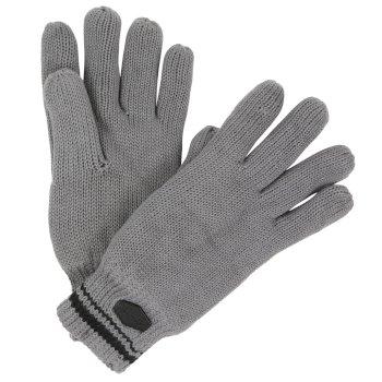 Balton Cotton Jersey Knit Gloves Rock Grey