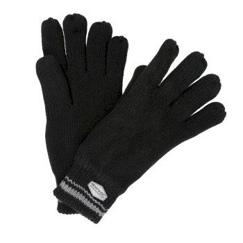 Balton Cotton Jersey Knit Gloves Black