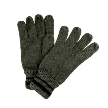 Men's Balton II Knitted Gloves Dark Khaki Black