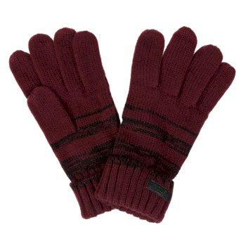 Men's Davion Knitted Gloves Burgundy