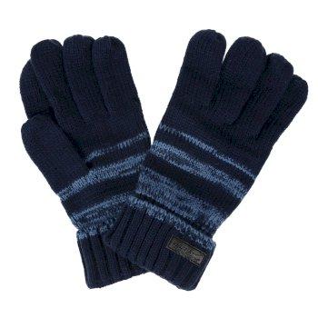 Granatowe męskie plecione rękawiczki Davion