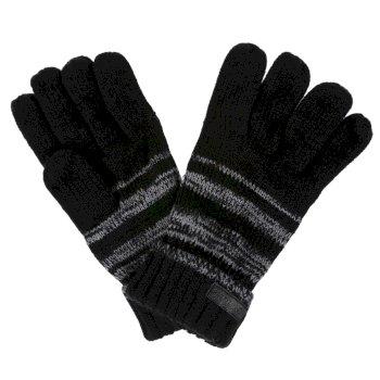 Czarne męskie plecione rękawiczki Davion
