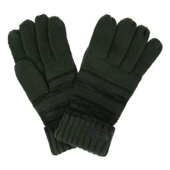 Oliwkowe wełniane plecione rękawiczki Davion