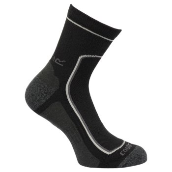 Men's 2 Pack Active Socks Black Clove