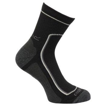 Men's 2 Pack Active Socks Black Clove