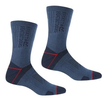 Men's Blister Protection II Socks Dark Denim Dark Red