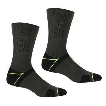 Men's Blister Protection II Socks Black Electric Lime