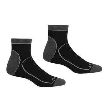 Men's Samaris Trail Socks Black Dark Steel